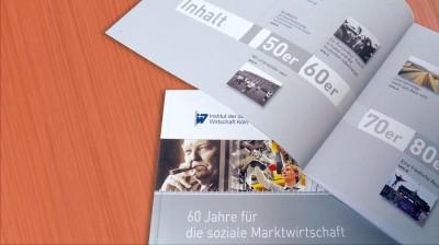 Erstellung und Grafikdesign von Chronik für ein Insitut mit Cover und Innenseite