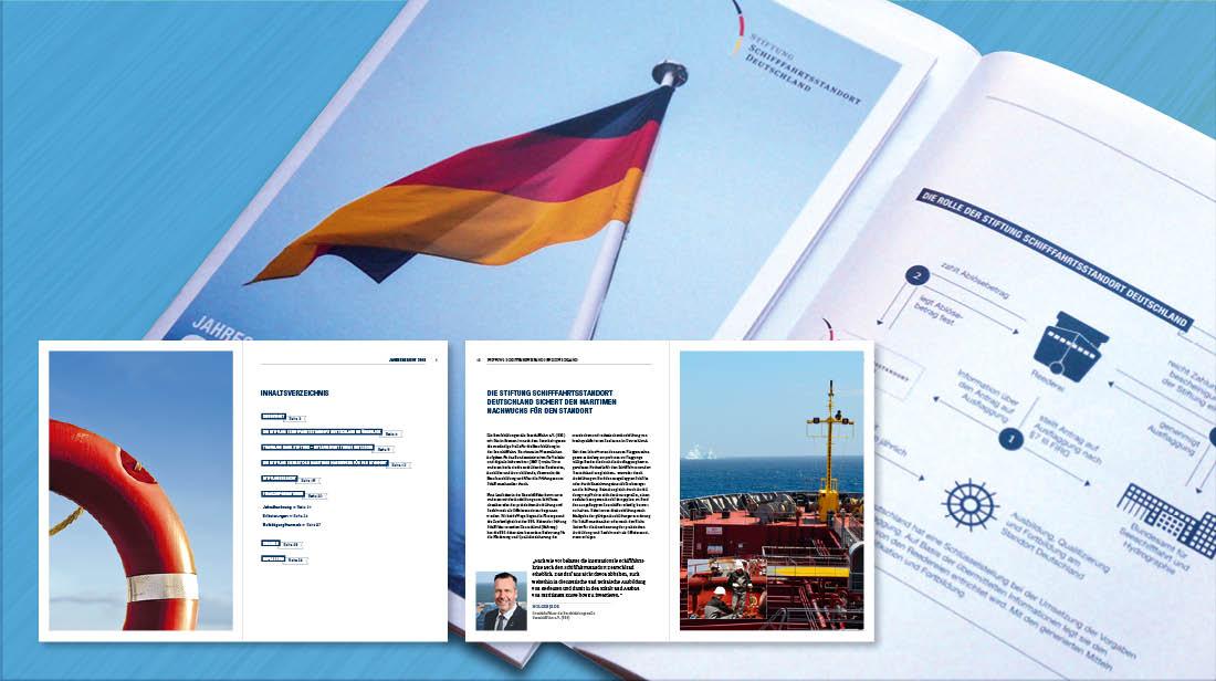 Grafikdesign und Erstellung von Geschäftsberichten und Jahresberichten mit Cover und Innenseiten