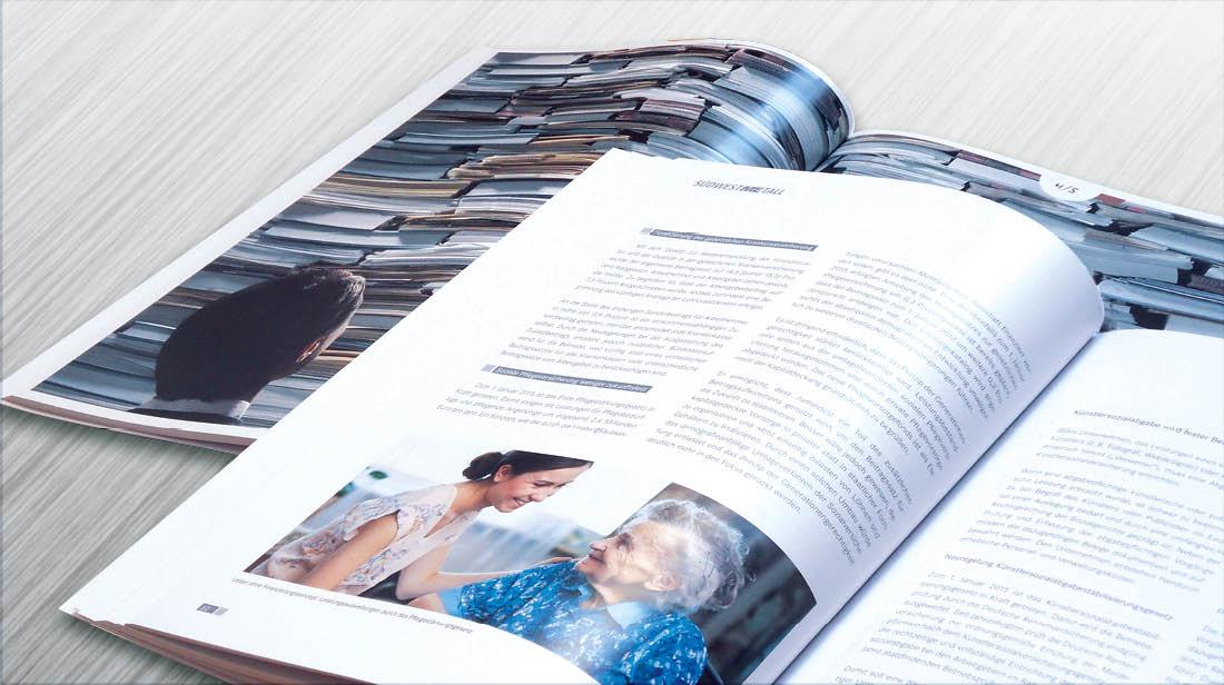 Grafikdesign Geschäftsbericht mit Innenseiten
