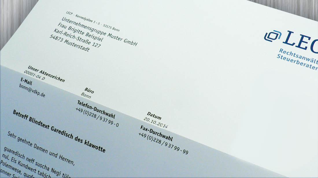 Bedrucken von Briefbögen mit Word-Dokumentenvorlagen