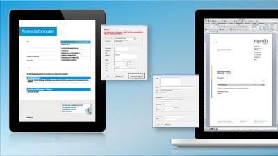 Erstellen von Word-Dokumentenvorlagen mit Fenstern für Anmeldeformular und Briefbogen