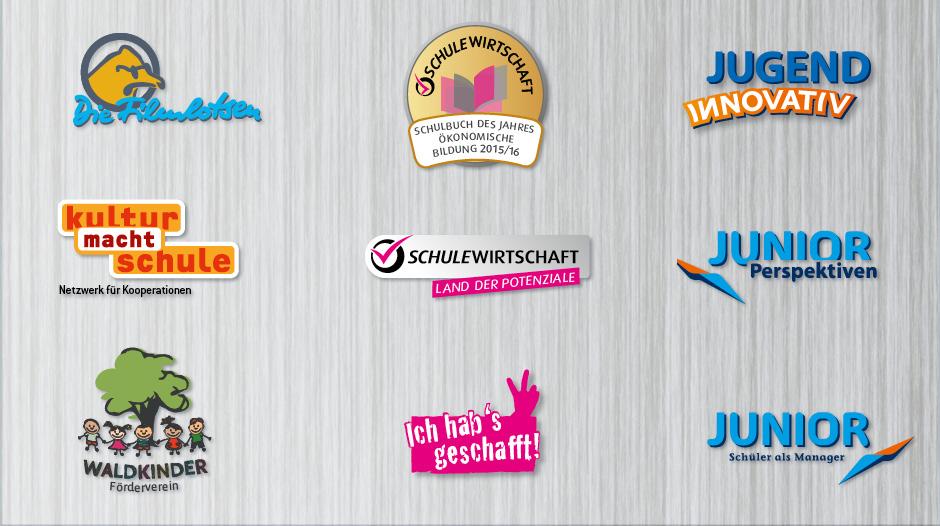 Logos von Schüler- und Bildungsprojekten
