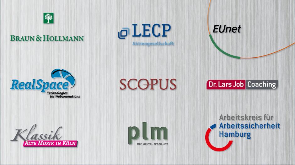 Logos von Unternehmen, Verbänden und Insitutionen
