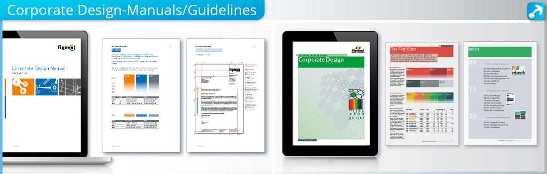 Beispiele von Corporate Design Manuals bzw. Guidelines