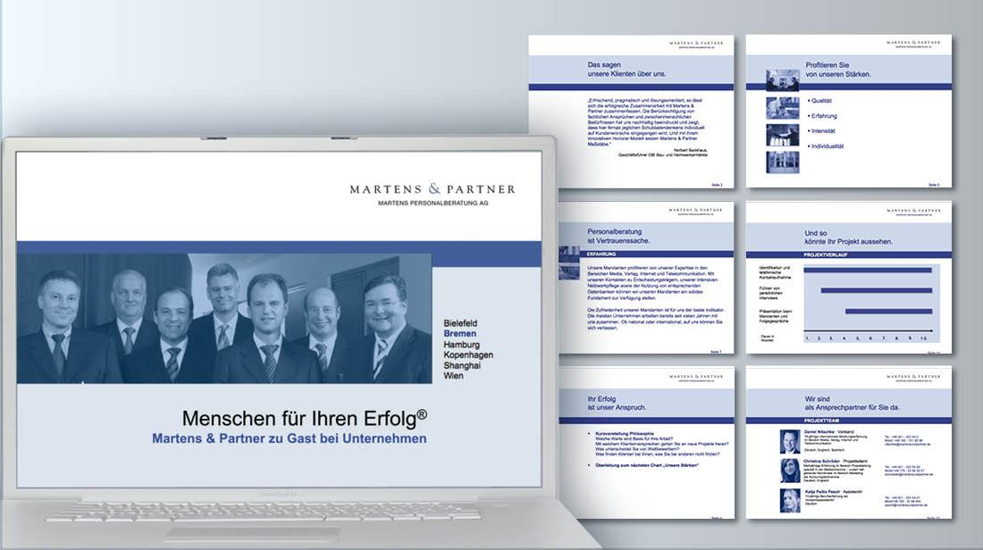 Erstellung und Grafikdesign von PowerPoint Präsentationen für Unternehmensberatung