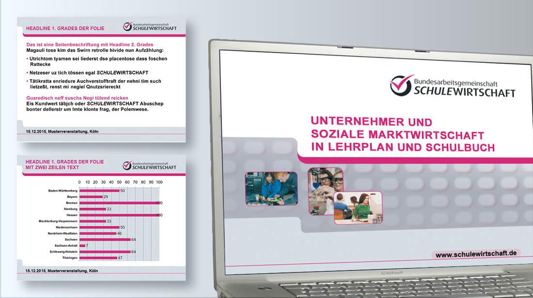 Erstellung und Grafikdesign von PowerPoint Präsentationen mit Titel- und Folienmaster sowie Grafiken