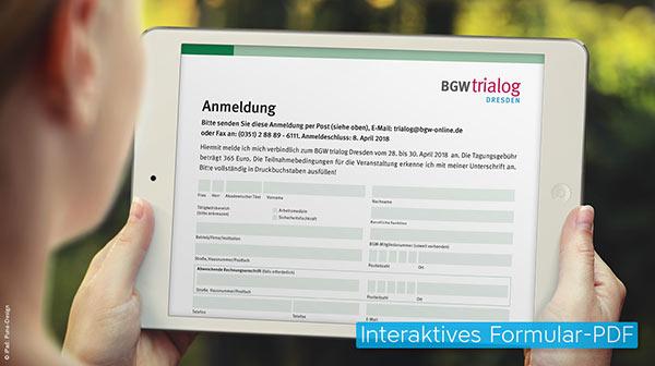 Dynamisch ausfüllbares Formular-PDF