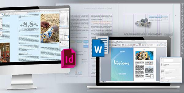 InDesign-Templates und Word-Vorlagen von Geschäftsberichten