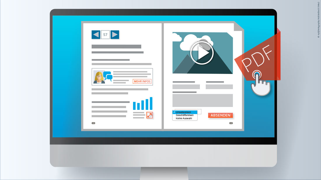 Interaktiv dynamisch PDF als Online-Broschüren