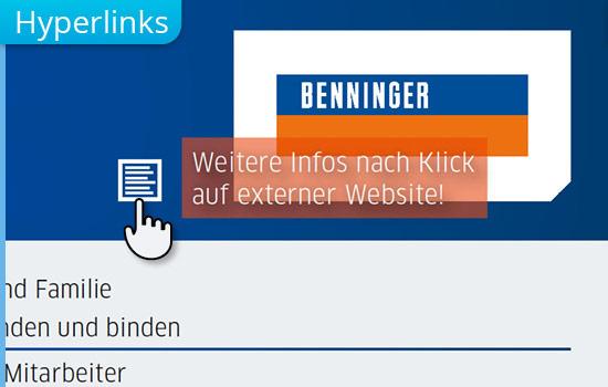Hyperlinks interaktiver PDF