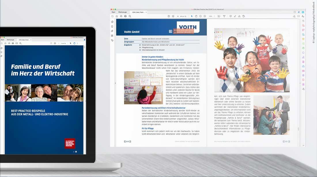 Design-Beispiel interaktiver PDF