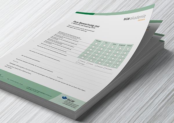 Veranstaltungsdesign Evaluationsbogen