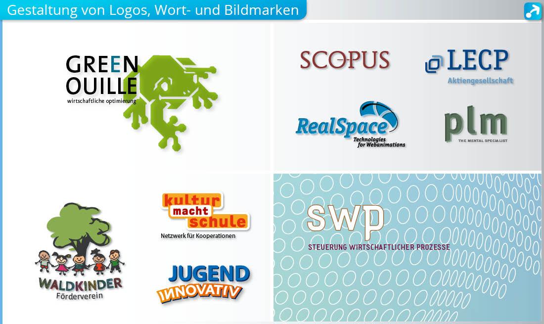 Beispiele für Logos, Bild- und Wortmarken