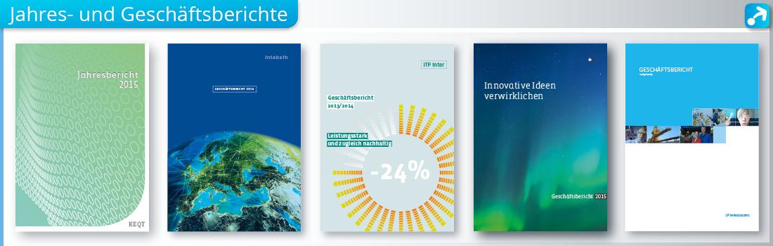 Cover von Geschäftsberichten und Jahresberichten