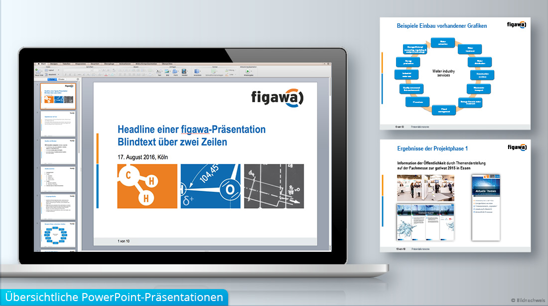 Erstellung und Grafikdesign von PowerPoint-Präsentationen