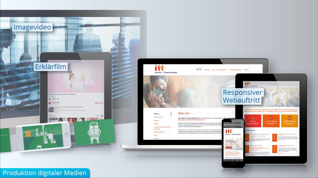 Produktion bzw. Erstellung von Webseiten und Erklärfilmen