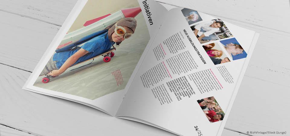 Magazindesign Trend Asymmetrie