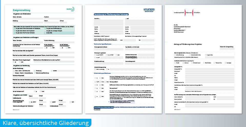 PDF Formular Gliederung