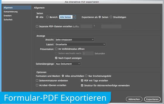 Exportieren dynamisches Formular-PDF aus InDesign