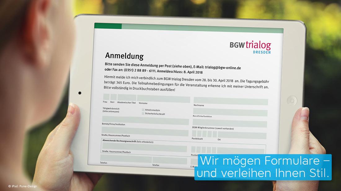 ausfüllbares PDF Formular bgw trialog