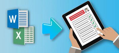 Word-Dateien konvertieren in ausfüllbare PDFe